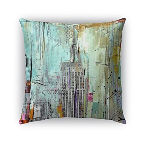"Cheap KAVKA DESIGNS Abstract NYC Indoor/Outdoor Throw Pillow, Multicolored - 18"" X 18"" for sale"