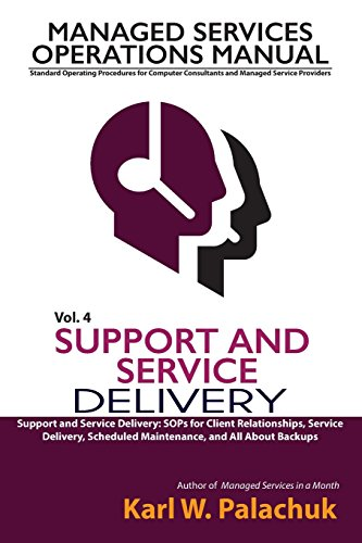 Vol. 4 - Support And Service Delivery: Sops For Client Relationships, Service Delivery, Scheduled Maintenance, And All About Backups