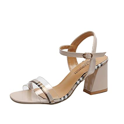 82d99af9e00 Amazon.com: Answerl Womens Chunky Heel Ankle Strap Pumps Square Toe ...