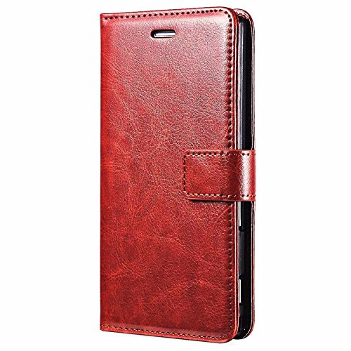 TROUNCE Vintage pu Leather flip Wallet Stand Cover Back case for Samsung Galaxy S6 Edge