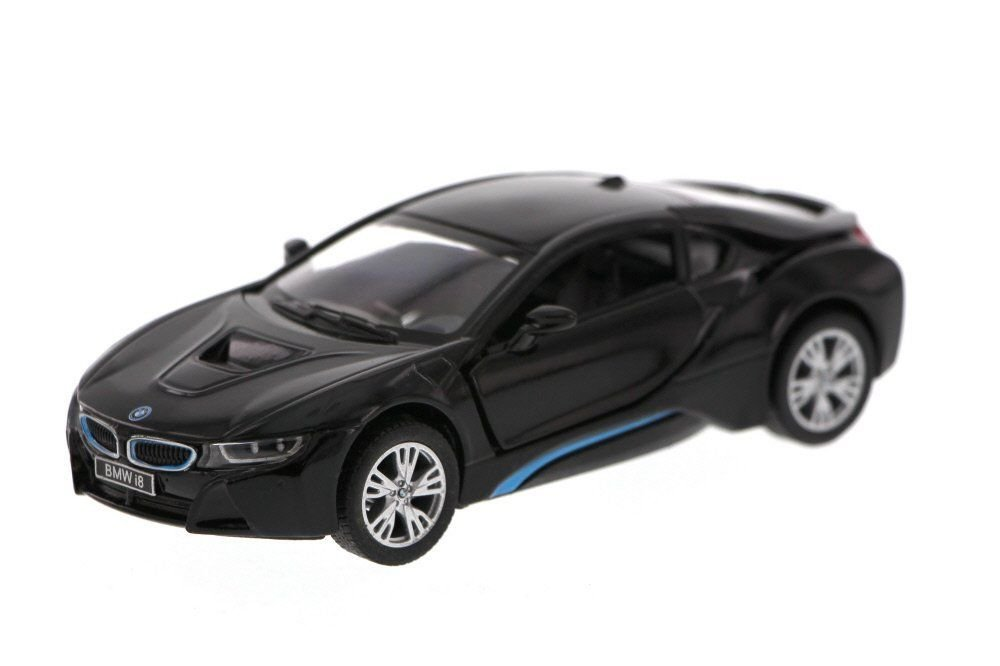 New 1 36 KINSMART DISPLAY BLACK COLOR BMW I8 Diecast Model Car By KINSMART