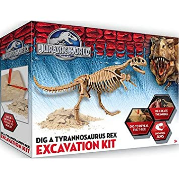 jurassic world dig a tyrannosaurus rex excavation kit jurassic