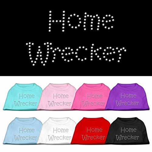 Mememall Fashion Home Wrecker Rhinestone Dog Shirt Pet Puppy Clothes Apparel Funny Dog Tee BLING (Homewrecker Halloween Costume)