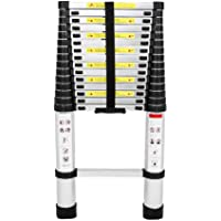 RV Outdoor Work Folding Aluminum 8.5//15.5//16.4 FT Telescoping Telescopic Ladder Max Load 330 lbs Extension Folding Lightweight Ladder Slow Down Design for Roofing Business 8.5FT Household Use
