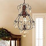 Notika Rustic Crystal Chandelier Antique Vintage Lighting Light Fixture Hanging Pendant