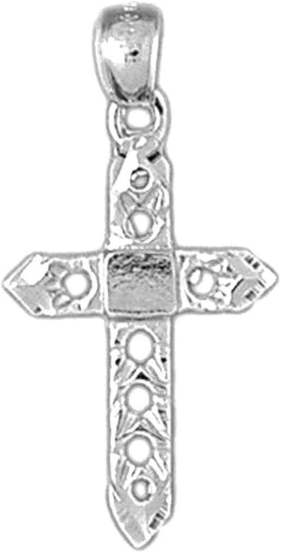 Jewels Obsession Crucifix Pendant Sterling Silver 925 Crucifix Pendant 52 mm