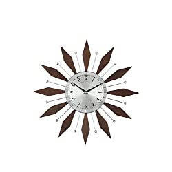 Telechron The Harper Mid-Century Clock, Walnut/Silver