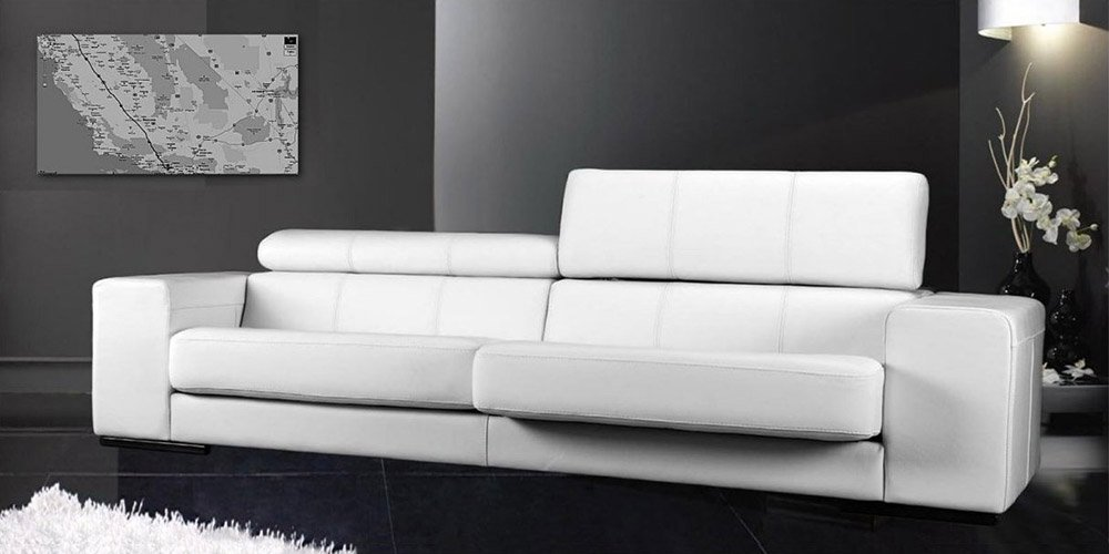 Calia Maddalena–Tim Sofa, Old Style Savage Leather Tocai, Armchair - 155x62