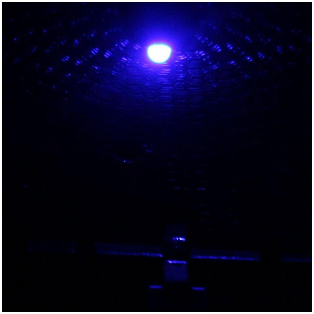 Coche Azul LED Luz Cuadrado Forma Sin humo Cenicero R TOOGOO