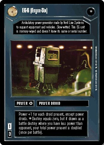 STAR WARS CCG DS PREMIER LIMITED EG-6 (EEGEE-SIX) 13U2