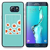 Minimalist Baby Blue Flowers Designed Hard Plastic Protective Case King Case For Samsung Galaxy S6 Edge Plus