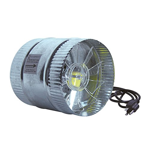 GrowBright 6'' Inline Duct Booster Fan - 160/260 cfm by GrowBright