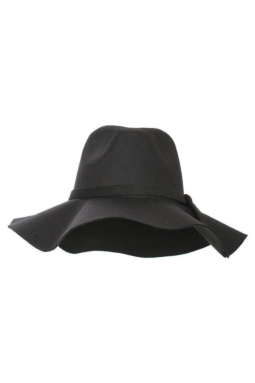 PILOT Wide Brim Fedora Hat in Black