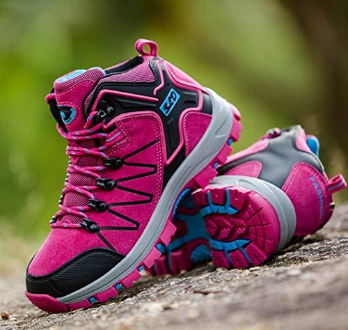 Libre Insun Al Trabajo Aire Zapatos Zapatillas Mujer Escalada Senderismo De Roja Montaña Rosa 0U04wq