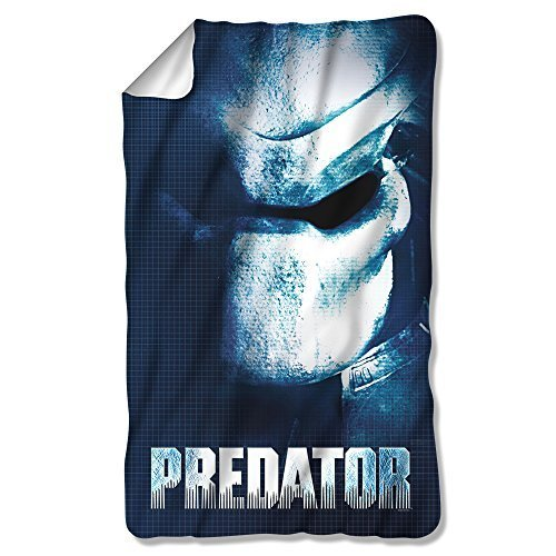 PREDATOR/MASK-FLEECE BLANKET-WHITE-ONE SIZE FITS ALL by Chucklehead Toy Store [並行輸入品] B01AHGLVE0