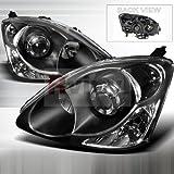 (US) Honda Civic 2002 2003 2004 Projector Headlights - Black