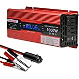 Power Inverter 1000 Watt DC 12 Volt Power Converter 2 AC Outlets and USB Charging Ports for Laptops Tablets and Other Electronics Devices