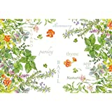 CounterArt Paper Placemat, Culinary Herbs, 24-Pack