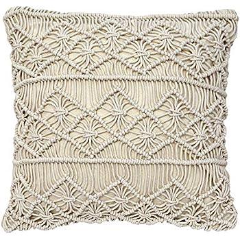 Amazon Com Decorative Pillows Macrame Boho Throw Pillows