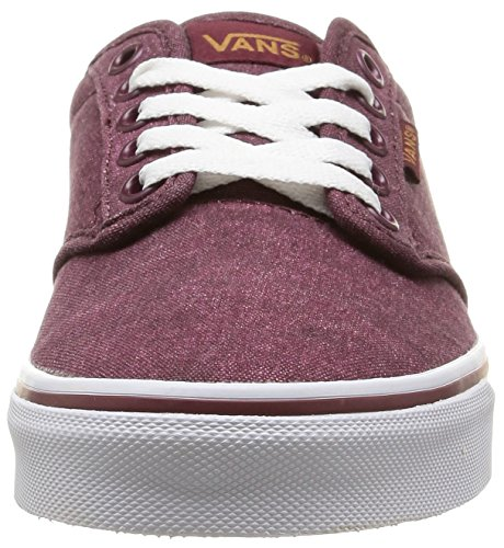 Vans W Atwood - Zapatillas bajas para mujer Rojo - Red (washed Canvas/windsor Wine)