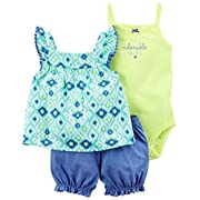 Carter's Baby Girls' Diaper Cover Sets 121h122, Blue, NB