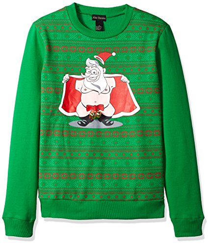 Alex Stevens Mens Jingle Balls Santa Ugly Christmas Sweater