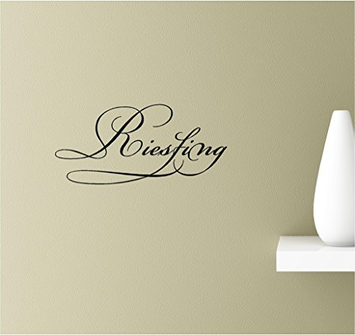 Riesling white grape Vitis vinifera 'Riesling' Rhine Germany dry sweet Vinyl Wall Art Inspirational Quotes Decal Sticker