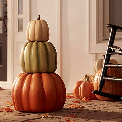 ACCENTHOME 26.5 in. Harvest Stacked Pumpkins-Heirloom