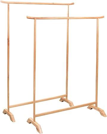 Amazon De Festnight Kleiderstander Set 2 Stk Garderobenstander Holz Kleiderstander Stabil Massives