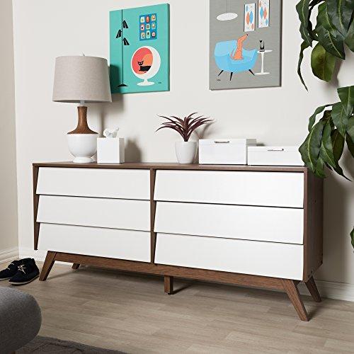 Baxton Studio 6-Drawer Storage Dresser