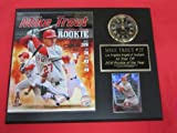 Mike Trout Anaheim Angels Collectors Clock Plaque w/8x10 Photo and Card