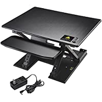 Yescom 5-16 Electric Height Adjustable Computer Elevating Desk 31x24 Motorized Sit Stand Desktop Converter