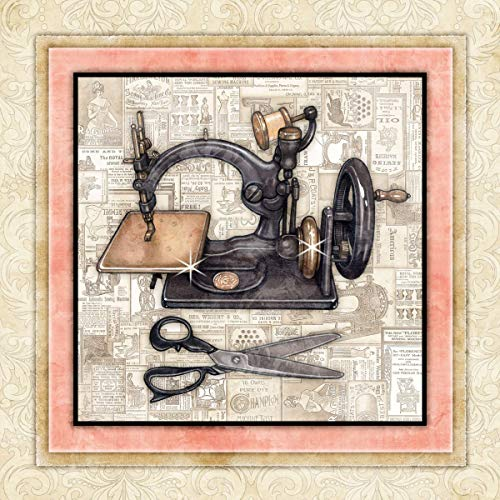 Antique Sewing Machine Quilting Sewing Art Print by Dan Morris