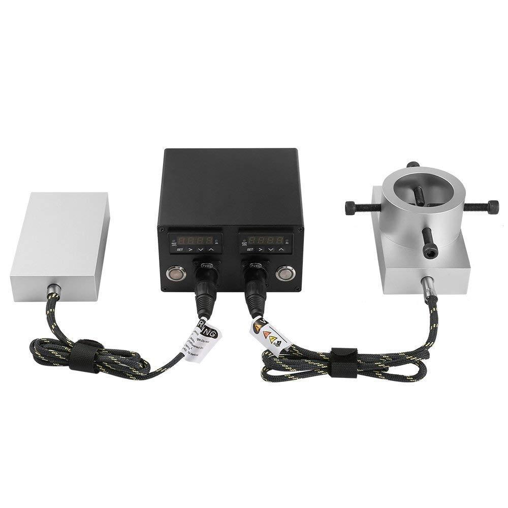 KKmoon Pressa di Calore PID Controller Enail Riscaldamento Kit Piastra in Alluminio 6061 Electric Temperature Controller Box Canna Riscaldamento per Rosin Press 3 * 5