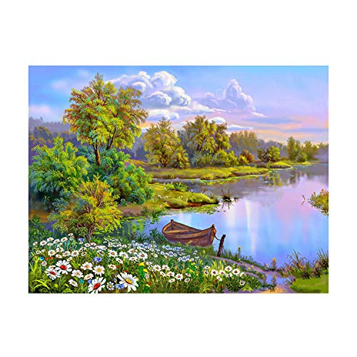 (Framed DIY Painting by Numbers LandscapePainting Modern Picture Home Decor for Living Room 4050cm,No Frame 4050cm,R248)