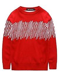 MFrannie Boys Contrasted Color Asymmetrical Stripe Knit Autumn Sweater