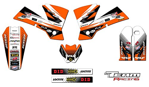 Team Racing Graphics kit compatible with KTM 2003-2004 SX, ANALOG Base - 250 Fender Decal Rear