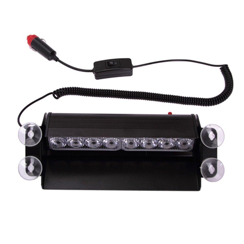 E-db 12 V 8LED Emergency Warning Lamps Strobe Lights Flash/Street Shovel for Vehicle Car Truck SUV Interior Roof/Dashboard / Windshield (Yellow)
