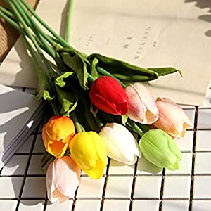 Mandy's Artificial Tulip Flowers for Party Home Wedding Decoration 2