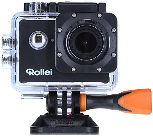 Rollei Actioncam 510 - WiFi Action Cam (Actionkamera) mit Full HD Video Auflösung, Weitwinkelobjektiv, bis 40 m wasserfest, inkl. Unterwasserschutzgehäuse - Schwarz 40309