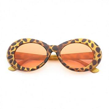LETAM Gafas de sol Gafas de Sol ovaladas de Las Mujeres Moda ...