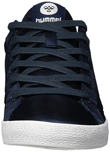 Hummel Damen Deuce Court Sneakers In Raso Blau (total Eclipse)