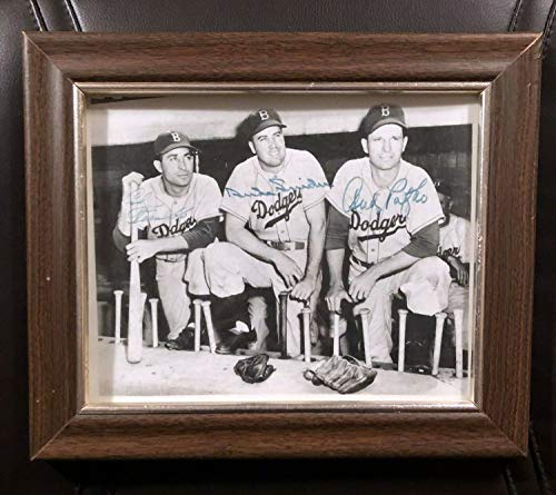 Dodgers Duke Snider Carl Furillo Andy Pafko Autographed Signed Memorabilia Photo JSA Certified