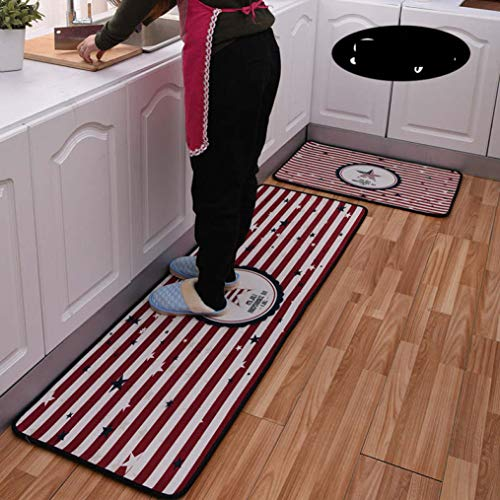 - WONNA Absorbent Striped Rugs Non-Slip Carpet Soft Thick Machine-Washable Doormat for Kids Home Kitchen Hallway Decorative Bath Floor Mats