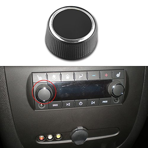 Chevy Suburban Auto Parts - 1pc Rear Radio Audio Control Knob Dial Tuner for 07-13 Chevy Tahoe Chevrolet Silverado GMC Acadia Sierra Denali Yukon GM 22912547 Button Repair Replacement