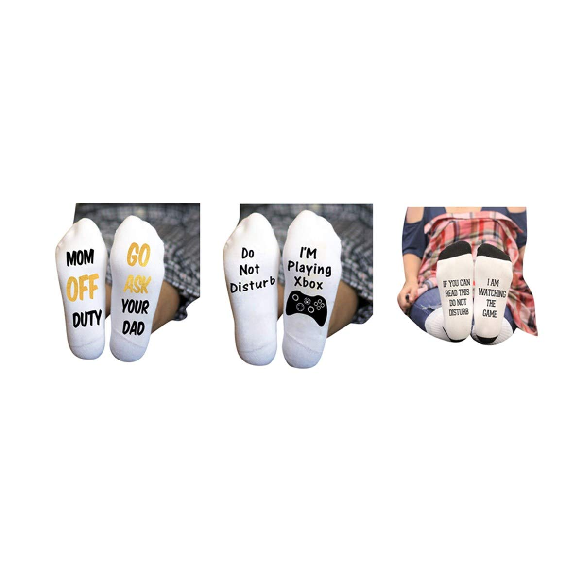 398663600226 Amazon.com: iMakcc 6 Pairs Unisex Cotton Socks If You Can Read This Socks  With Funny Letter Socks (6 Pack): Clothing