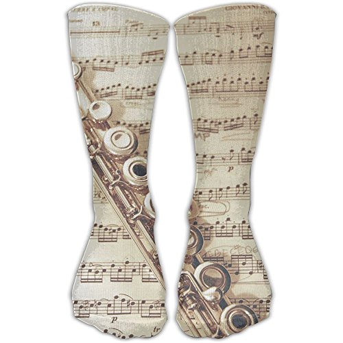 (YUANSHAN Socks Flute Music Women & Men Socks Soccer Sock Sport Tube Stockings Length)