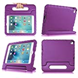 iPad MiNi 4 Case,iPad MiNi 4 Kiddie Case-SNOW-Shockproof Case Light Weight Kids Case Super Protection Cover Handle Stand Case for kids Children for Apple iPad mini 4(iPad MiNi 4, purple)