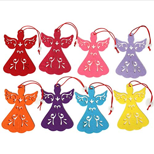 (Gadgets Accessories - Colorful Angel Wings Christmas Tree Decor Xmas Hanging Pendant Ornaments Bauble Home Gadgets - Gadgets Accessories Home Gadget Tree Toppers Angel Christmas Wing)