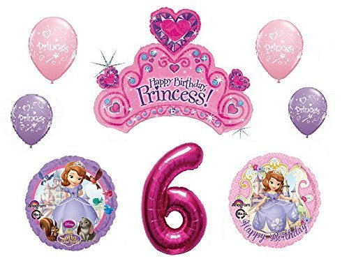 Disney's Sofia the First 6th Happy Birthday Party Balloons Decorations Supplies Bundle by Northstar Balloons North star balloons